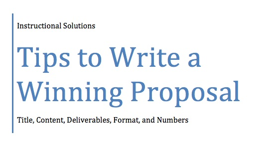 Business Writing Info Blog – Formal Business Proposal Format