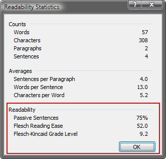 Readability Statistics