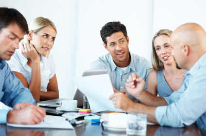 business report writing with group image resized 600