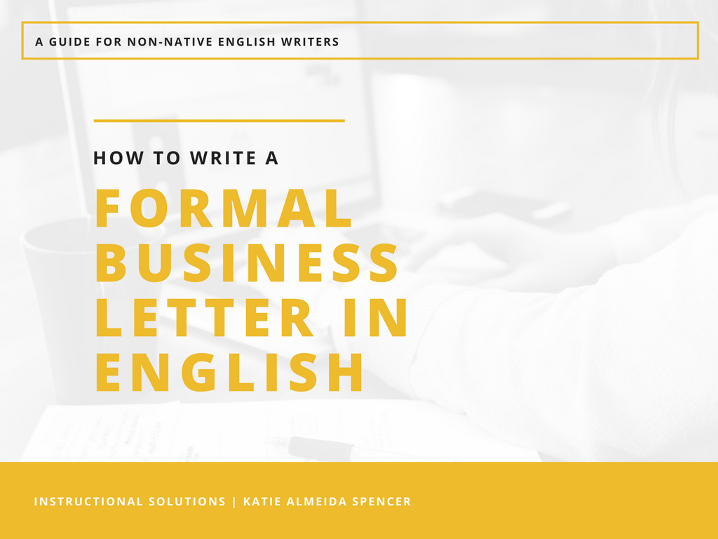 write a business letter