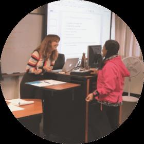 Mary Cullen teaching a class