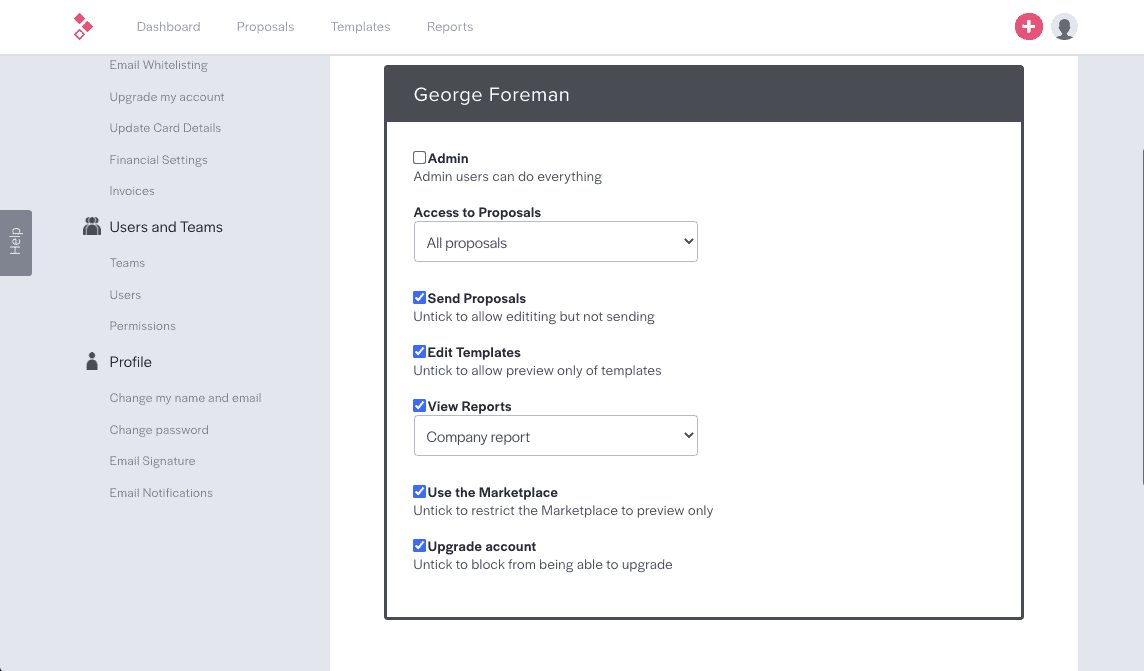 Better Proposals Team Collaboration Tool