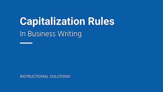 Capitalization Rules in Business Wiring