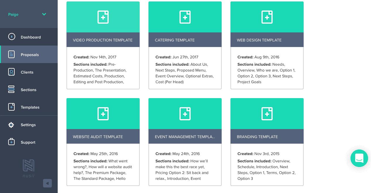 Nusii templates