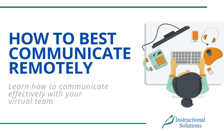 Remote Communication Blog