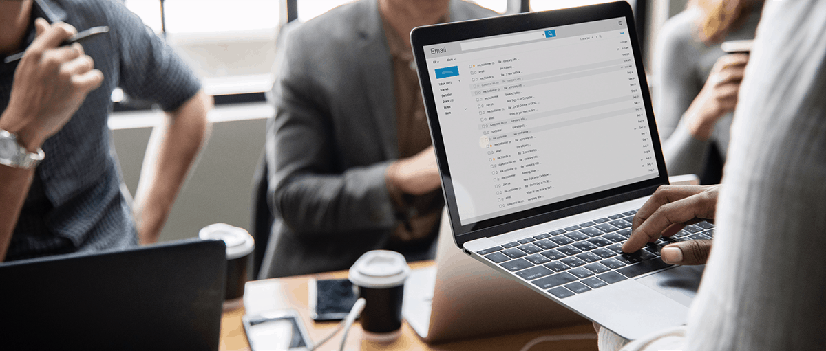 Email client on laptop