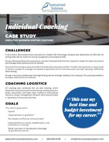 Executive Business Writing Coaching