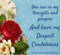 customer service writing condolences