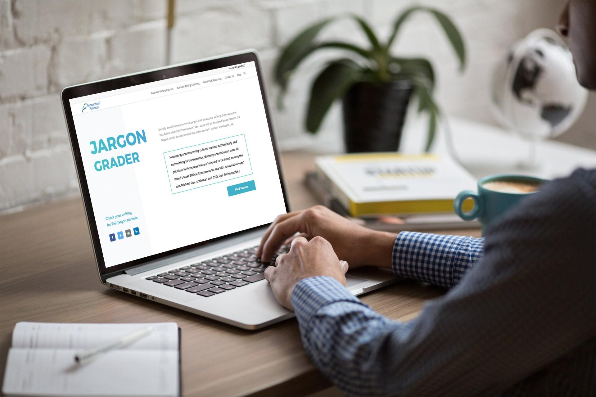 jargon grader on laptop