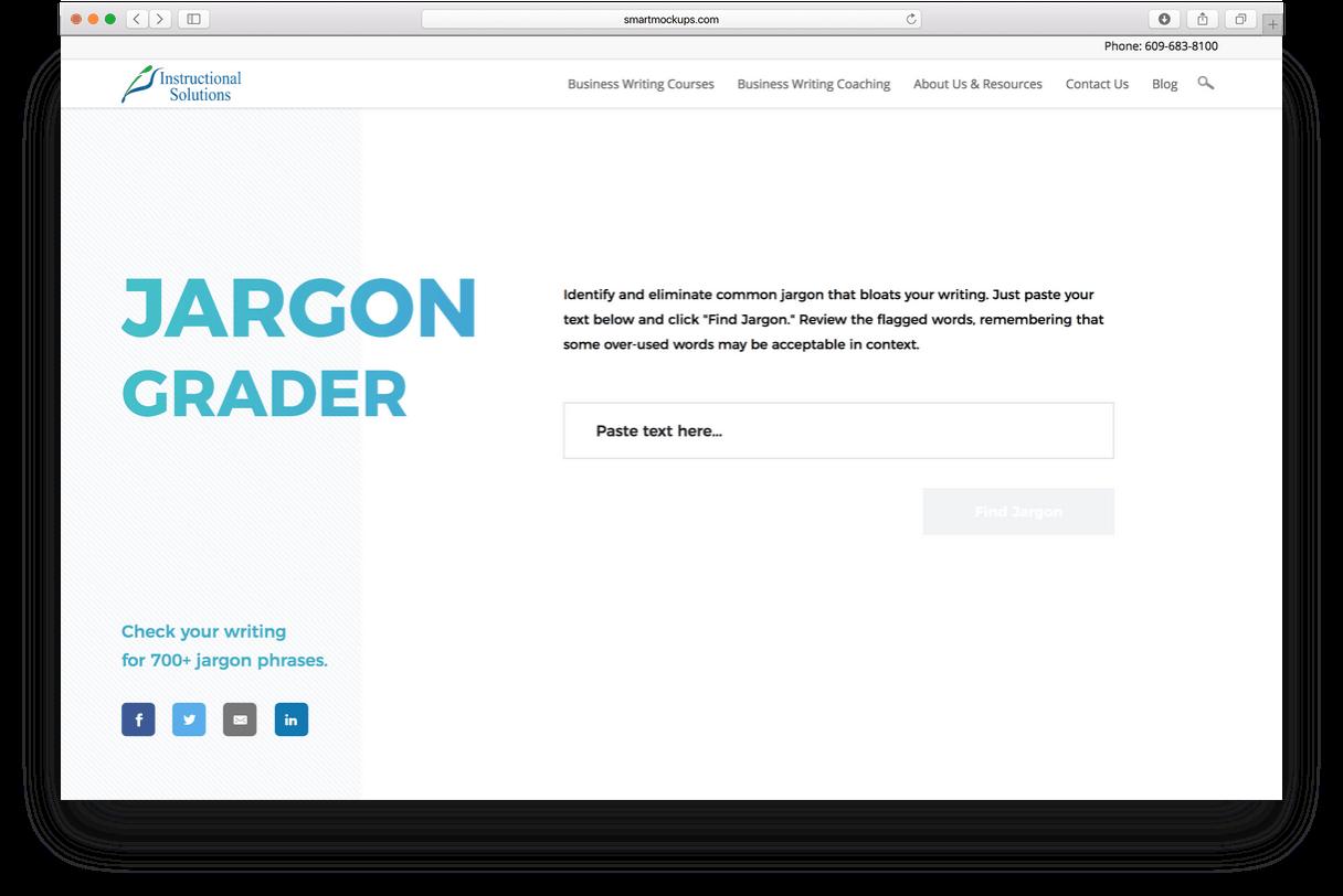 jargon grader in browser