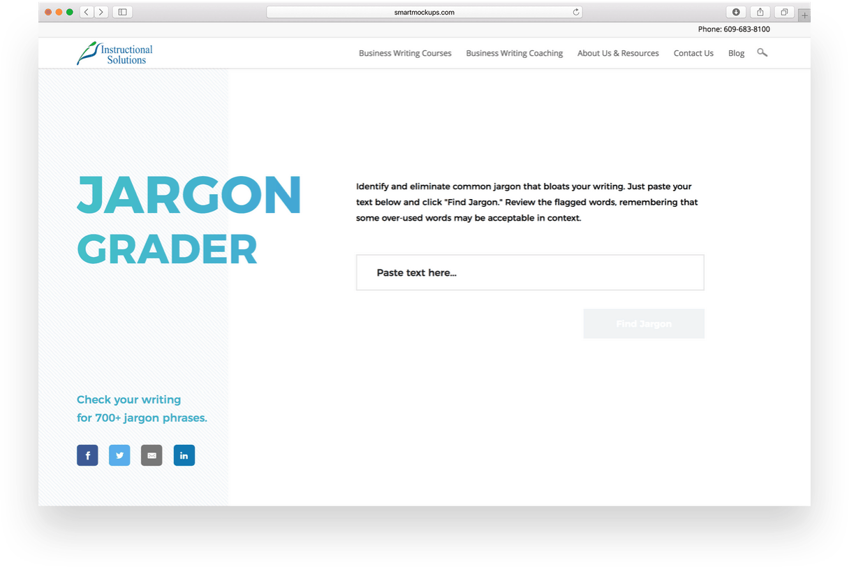 jargon grader in browser