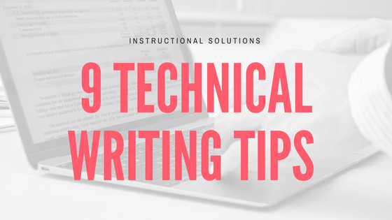 Tips to write a good technical report