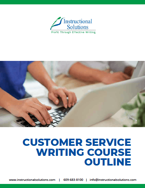 Customer Service Writing Course Outline