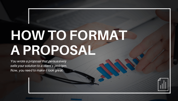 how to format a business proposal with examples